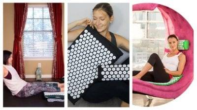 FashionFitnessNow Acupressure Mat and Pillow in action https://fashionfitnessnow.com/video-instructions/